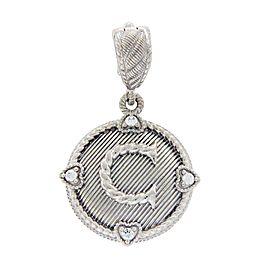 Judith Ripka 925 Sterling Silver Diamonique C Letter Pendant