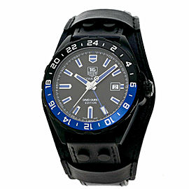 TAG HEUER Stainless Steel/Leather FORMULA1 David Guetta WAZ201A Watches