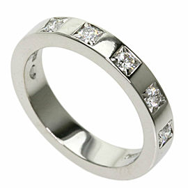 BVLGARI 5P Diamond Platinum Mary Milling Ring