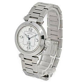 CARTIER Pasha C Big Date W31055M7 White Dial Automatic Boy's Watch