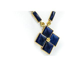 Llias Lalounis 22 Karat Gold and Sodalite Pendant-Necklace