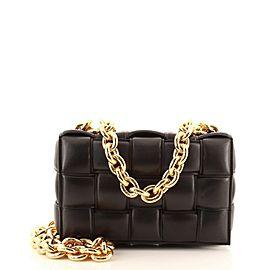 Bottega Veneta Cassette Chain Crossbody Bag Padded Maxi Intrecciato Leather