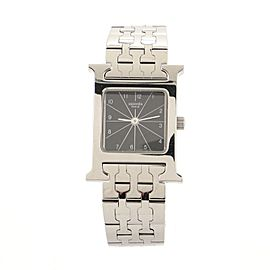Hermes Heure H Quartz Watch Stainless Steel 21