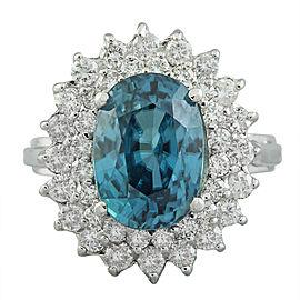 8.52 Carat Zircon 14K White Gold Diamomd Ring