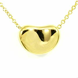 Tiffany & Co. 18K Yellow Gold Bean Necklace Pendant CHAT-37
