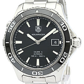TAG HEUER Stainless steel Aquaracer 500M Calibre Watch HK-2027