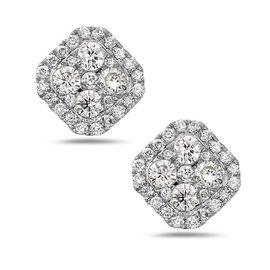 Crush & Fancy Essie 18k White Gold 0.77ctw. Diamond Earrings