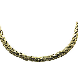 10k Solid Yellow Gold Spiga Wheat Link Chain Necklace