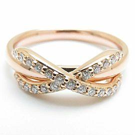 TIFFANY&CO 18K Pink Gold Diamond Infinity Ring