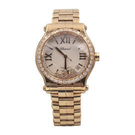 Chopard Happy Sport 274808-5004 18K Rose Gold 36mm Womens Watch