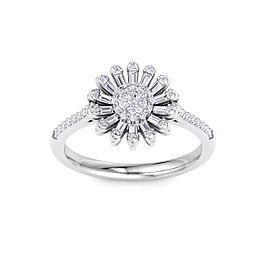 Sunflower Ring in 14K Gold With 0.43ct White Diamonds