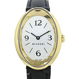 Bulgari Oval Yellow Gold Quartz 32mm Womens Watch