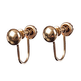 14kt Gold Ball Bead Earrings