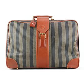 Fendi Large Pequin Stripe Suitcase Luggage Bag 119ff23