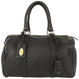 Fendi Brown Leather Selleria Boston Bag 824ff54