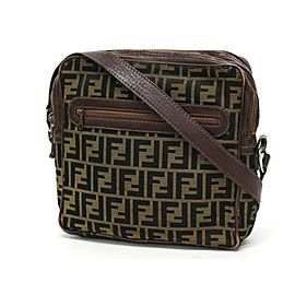 Fendi Brown Monogram FF Zucca Messenger bag 241485