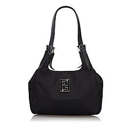 Fendi Ff Logo 239754 Black Nylon Shoulder Bag