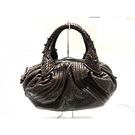 Fendi Tiny Nano Mini Spy Hobo Brown Leather Woven 239763