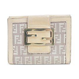 Fendi Monogram Zucca Wallet Forever FF Compact Flap Logo 16FK0116