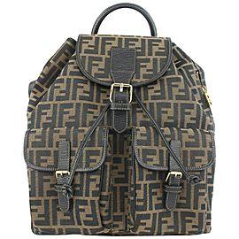 Fendi Tobacco Brown Monogram FF Zucca Backpack 81ff427
