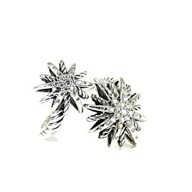 David Yurman Open Starburst Ring Sterling Silver 0.27tcw Diamonds Size 6.5