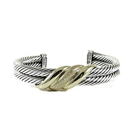 David Yurman Wave Cuff 14K Yellow Gold, 925 Sterling Silver Bracelet