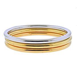 Tiffany & Co. Tri Color Gold Bangle Bracelet Set of 3