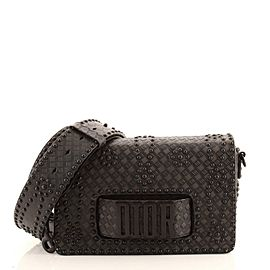Christian Dior Dio(r)evolution Flap Bag Studded Embossed Leather Medium