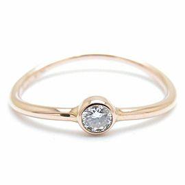 TIFFANY&CO 18K Pink Gold Diamond Wave Single Row Ring