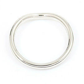 Tiffany & Co. 950 Platinum, Diamond Curved Band Pinky Ring CHAT-175