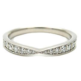 Tiffany & Co. Platinum Diamond Harmony Half Circle Ring