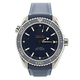 Omega Seamaster Professional Planet Ocean 600M Co-Axial Chronometer Automatic Watch Titanium and Rubber 45