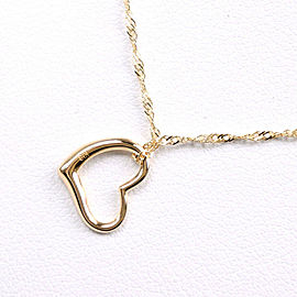 heart Necklace K18 yellow gold Women