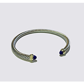 David Yurman Cable Classic Collection Bracelet with Lapis Lazuli and 18k Yellow
