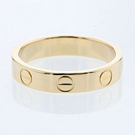 CARTIER K18 Yellow Gold Mini Love Ring EU49 Sku:TBRK-1