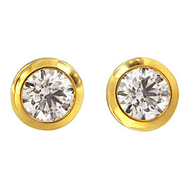 Tiffany & Co. Elsa Peretti 18K Yellow Gold and 1.21ct. Diamonds By The Yard Earrings