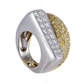 Fred of Paris 18K White and Yellow Gold Diamond Ring