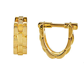 Cartier 18k Yellow Gold Panthere Maillon Stirrup Cufflinks