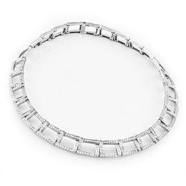 Tiffany & Co. Platinum 950 Open Square Necklace