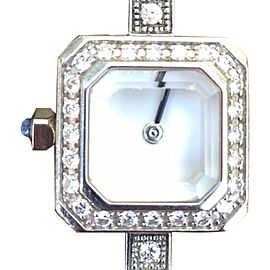 Corum Stainless Steel & Diamonds Bezel White Dial Womens Watch