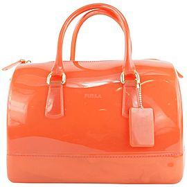 Furla Red-Orange Candy Boston Bag 407fur31