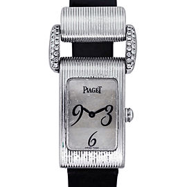 Piaget Miss Protocol 18k White Gold Diamond Ladies Watch