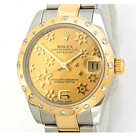Mid Size Rolex Two-Tone Datejust Gold 178343