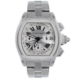 Cartier Roadster XL 2618 Stainless Steel Chronograph Dial 40mm Mens Watch