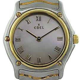 Ebel Two Tone Wave Mother of Pearl Roman Dial Ladies Watch