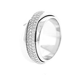 Piaget possession White Gold Diamond Band Movable Ring Sz 55