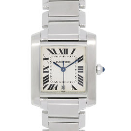 Cartier Tank Francaise 2302 Stainless Steel 28mm Womens Watch