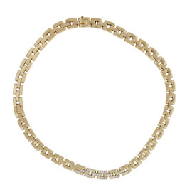 Cartier Panther 18K Yellow Gold 1.20ct. Diamond Necklace