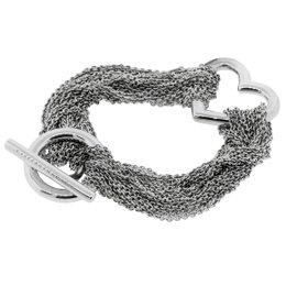 "Tiffany & Co. Sterling Silver Multi Strand Heart Bracelet 6.75"""