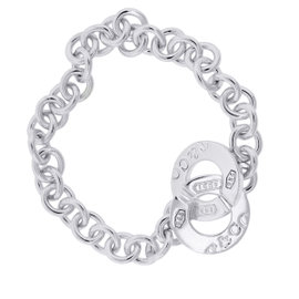Tiffany & Co. 1837 Sterling Silver Interlocking Charm Bracelet